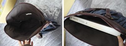 花紋シフォントートバッグ:A4サイズも入ります