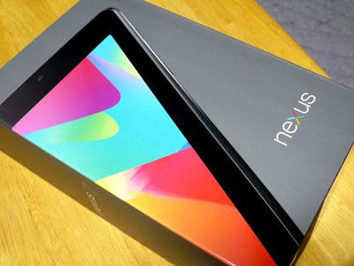 nexus7購入 外箱